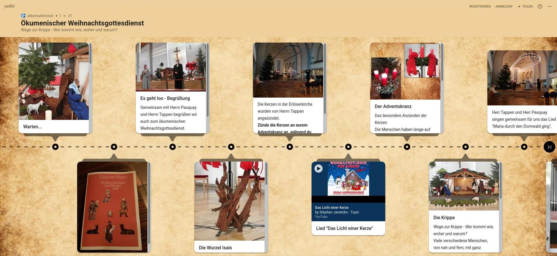 Weihnachtsgottesdienst insbesondere für Grundschulkinder