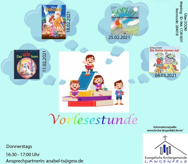 digitale Vorlesestunde für Kinder ab 4 Jahren
