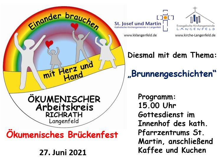 Ökumenisches Brückenfest – Sonntag, 27. Juni 2021, 15 Uhr