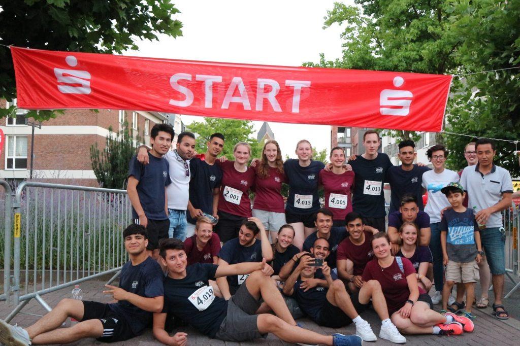 Gruppenbild mit Langstreckenläufern